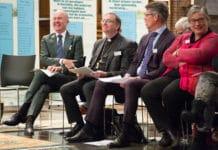 Sint Maartendag 2018, sprekers Arno Brok, Ron van den Hout, Guus Timmerman