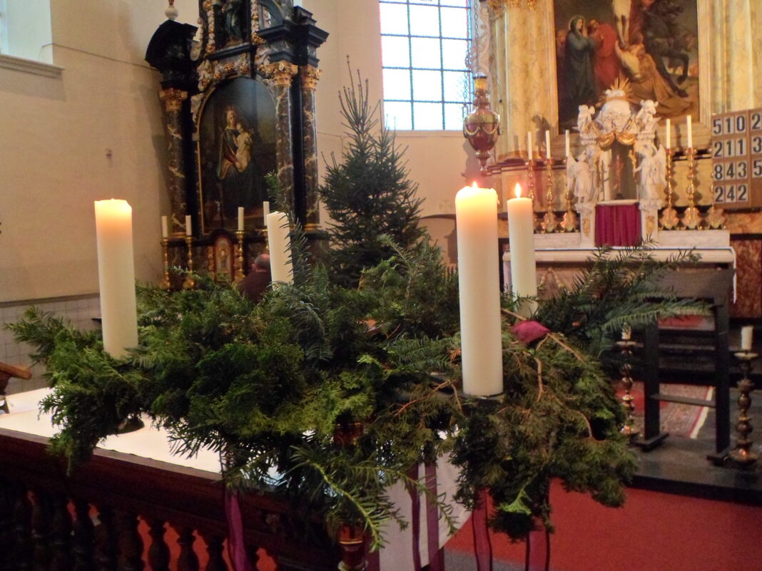 Adventskrans derde week van advent