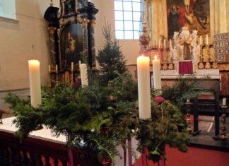 Adventskrans derde week van advent