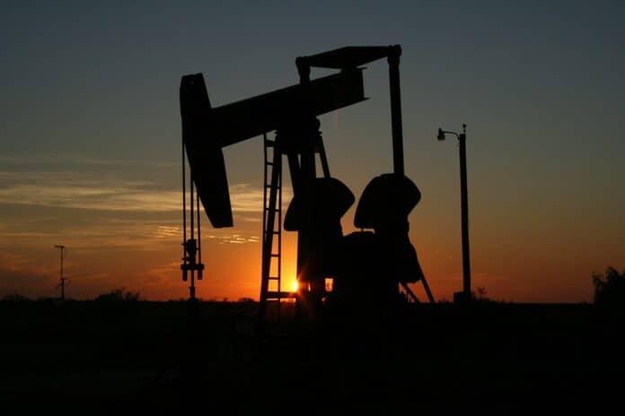 Zonsondergang fossiele brandstof