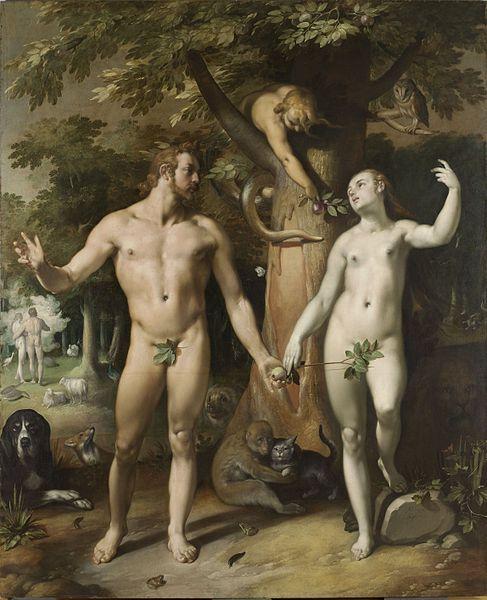 Cornelis Cornelisz. van Haarlem, De zondeval (1592). © Rijksstudio/Rijksmuseum