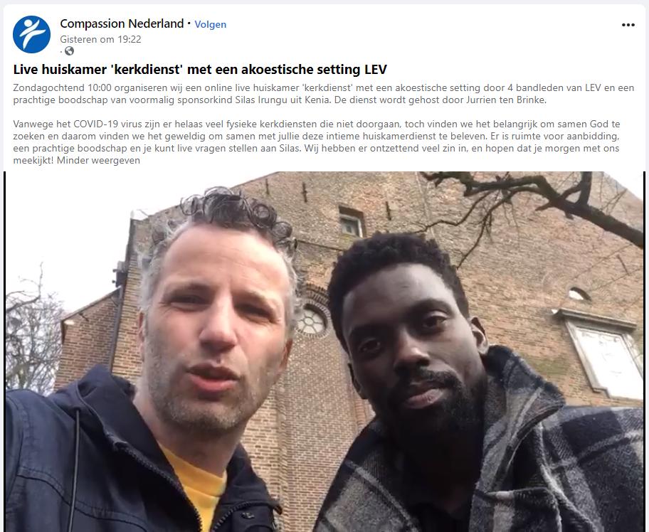 Compassion Nederland huiskamerviering