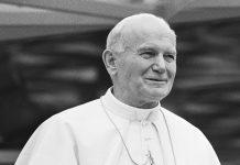 Paus Johannes Paulus II (uitsnede van foto Wikipedia)