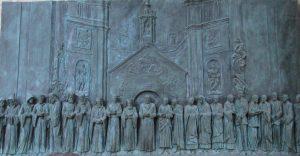 Plaquette ter herinnering aan de Wereldgebedsdag voor vrede