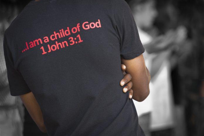T-shirt 'I am a child of God'