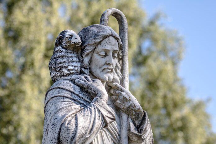 Beeld Jezus de Goede Herder