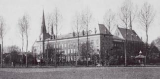 Achterzijde van het voormalig kleinseminarie Culemborg waaraan Cor Bouchette studeerde