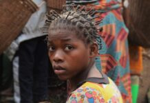Moeder en kind in Congo