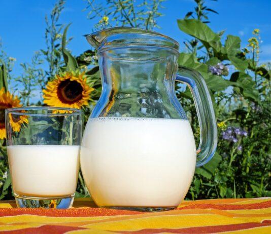 Kan en glas melk