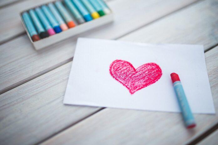 Getekend hart